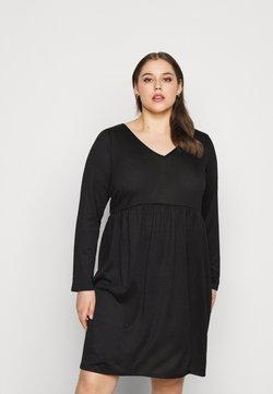 Evans - V NECK DRESS - Strickkleid - black