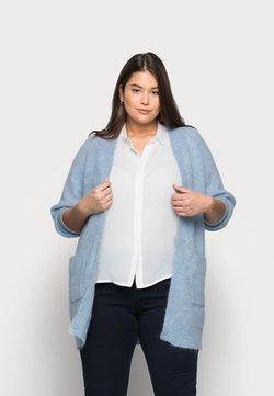Selected Femme Curve - SLFLIA LONG CARDIGAN - Neuletakki - cashmere blue