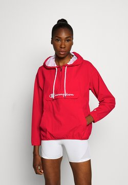 Champion - HALF ZIP - Windbreaker - red