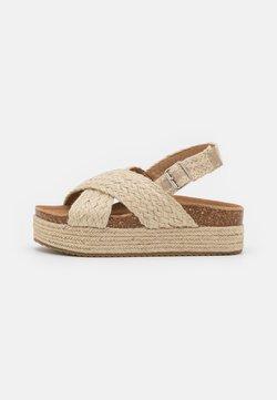 Refresh - Korkeakorkoiset sandaalit - beige