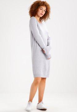 Vila - Vestido de punto - light grey melange