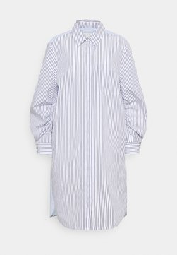 Marc O'Polo - DRESS CHEST POCKET STRIPE PATCH HIDDEN BUTTONS - Blusenkleid - off-white