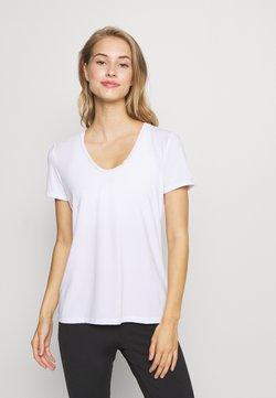 GAP - BREATHE NECK TEE - T-Shirt basic - optic white