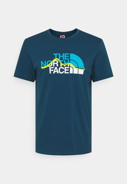 The North Face - MOUNTAIN LINE TEE - Print T-shirt - monterey blue