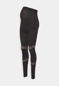 MAMALICIOUS - MLAMAJA ACTIVE TIGHTS - Leggings - black/leo pattern