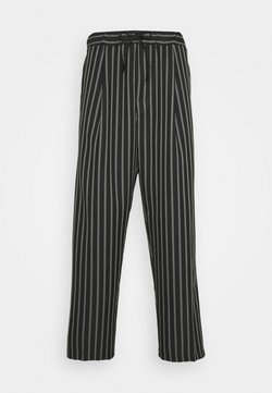 Vintage Supply - PIN STRIPE  - Stoffhose - black