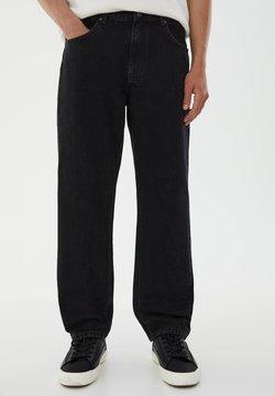 PULL&BEAR - STRAIGHT FIT - Straight leg -farkut - black