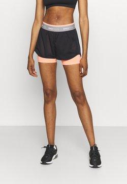 ONLY Play - ONPMALIA LOOSE TRAIN SHORTS - Pantalón corto de deporte - neon orange/blue graphite