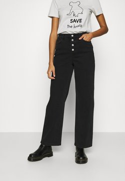 ONLY - ONLMOLLY LIFE WIDE  - Jeans a zampa - black denim