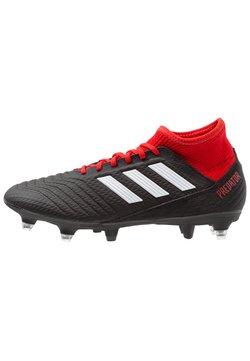 adidas Performance - PREDATOR 18.3 SG - Fußballschuh Stollen - core black/footwear white/red