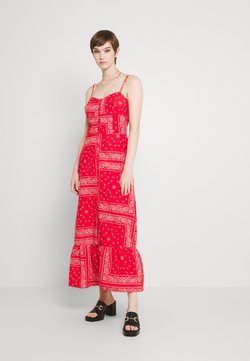 Never Fully Dressed Tall - RED BANDANA DRESS - Maxiklänning - red