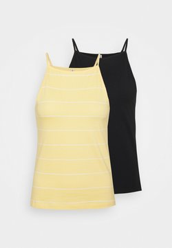 ONLY - ONLMAY LIFE STRIPE 2 PACK - Top - black/sunshine