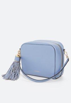 Uterqüe - MIT POMPON - Torba na ramię - light blue