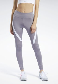 Reebok - WORKOUT READY VECTOR LEGGINGS - Tights - grey