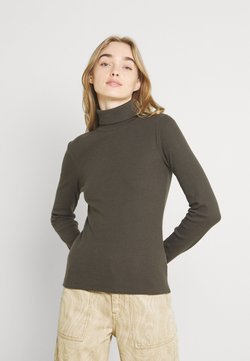 Pieces - PCANNA ROLL NECK - Strickpullover - black olive