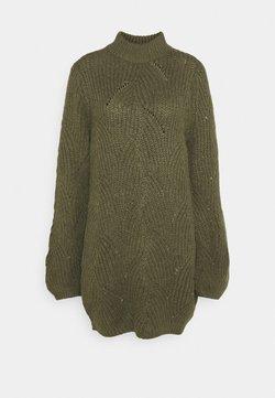 Noisy May - NMEDEN HIGH NECK DRESS  - Jumper dress - kalamata