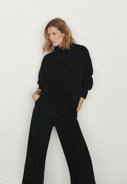 Massimo Dutti - Stickad tröja - black