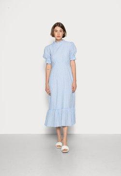 Ghost - SOLENE DRESS - Maxikleid - blue gingham
