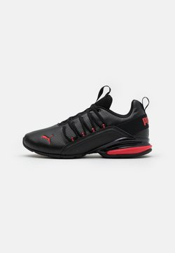 Puma - AXELION - Zapatillas de entrenamiento - black/high risk red