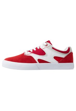 DC Shoes - KALIS VULC - Chaussures de skate - red/white