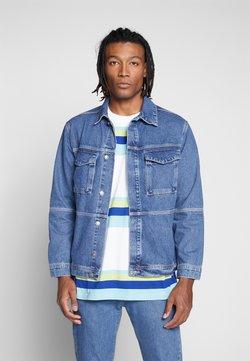 Mennace - CONTRAST THREAD WORK SHIRT - Denim jacket - blue