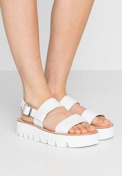 Grenson - ASTRID - Korkeakorkoiset sandaalit - white