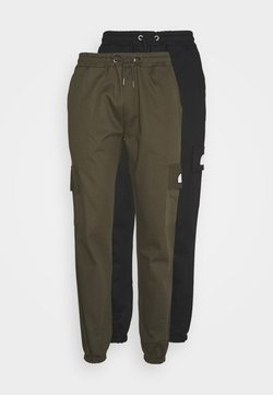 Newport Bay Sailing Club - PANT MULTI 2 PACK - Cargobukse - black/ khaki