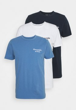 Abercrombie & Fitch - SUMMER 3 Pack - T-shirts med print - blue