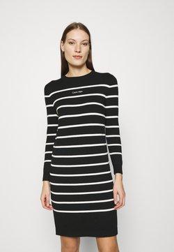 Calvin Klein - STRIPE LOGO DRESS - Vestido de punto - black