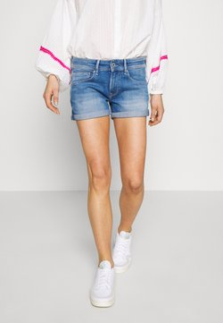 Pepe Jeans - SIOUXIE - Jeansshort - blue denim