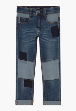 Blue Seven - KIDS DENIM PATCHWORK - Slim fit jeans - blue denim