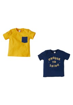 DeFacto - 2 PACK - T-shirt con stampa - yellow