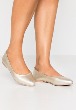 Anna Field - LEATHER BALLERINAS - Baleriny - gold