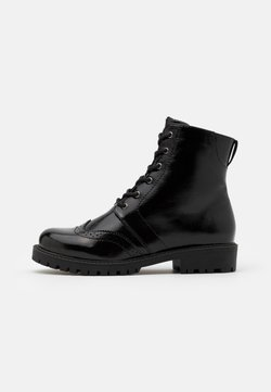 Vero Moda Wide Fit - VMGLORIANOMI BOOT WIDE FIT  - Veterboots - black