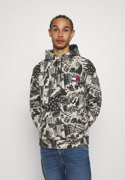 Tommy Jeans - ALLOVER PRINT BADGE HOODIE - Sweat à capuche - white