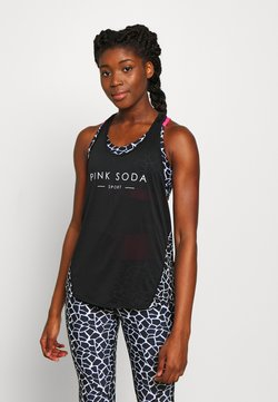 Pink Soda - DECO TANK - Funktionsshirt - black/white