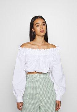 NA-KD - GATHERED BLOUSE - Bluse - white