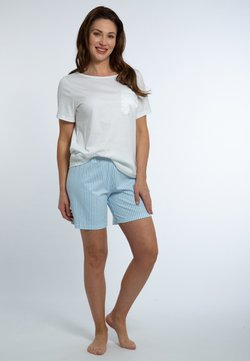 mey - Pyjama - weiß / dream blue