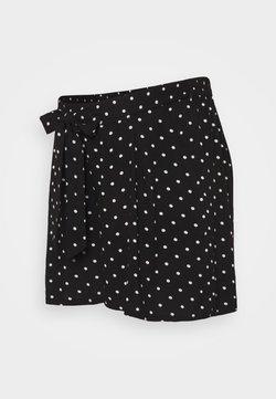 Dorothy Perkins Maternity - UNDER BUMP TIE WAIST - Shorts - black