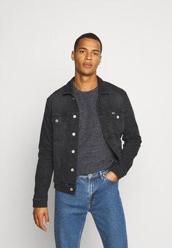 Tommy Jeans - REGULAR TRUCKER JACKET - Jeansjakke - max black