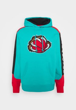 Mitchell & Ness - NBA VANCOUVER GRIZZLIES FUSION HOODY - Fanartikel - green/grizzlies teal