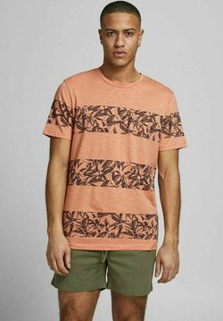 Jack & Jones - JORMONDAY - T-Shirt print - shell coral