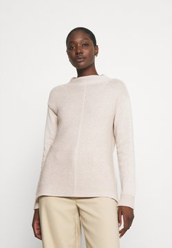 Marc O'Polo - LONGSLEEVE STRUCTURE MIX TURTLENECK - Strickpullover - sandy melange