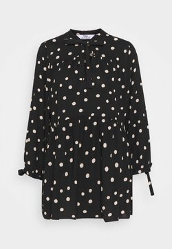 Dorothy Perkins Tall - SPOT SMOCK WOVEN - Tunika - black