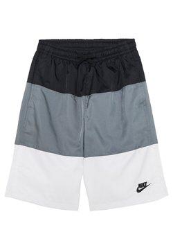 Nike Sportswear - BLOCK - Shorts - black/smoke grey/white