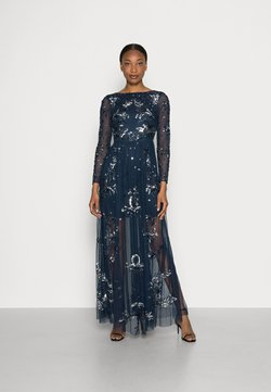 Maya Deluxe - ALL OVER EMBELLISHED SPOT MAXI DRESS - Robe de cocktail - navy