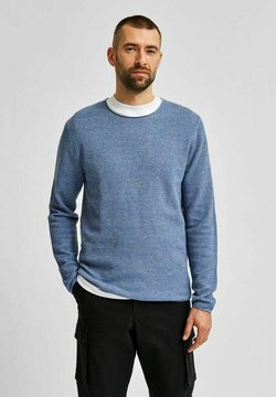 Selected Homme - SLHROCKY CREW NECK - Maglione - skyway