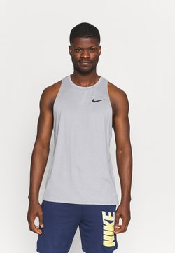 Nike Performance - TANK DRY - Linne - particle grey/grey fog
