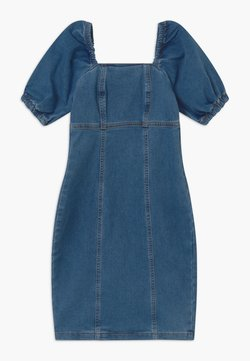New Look 915 Generation - PUFF SLEEVE - Jeanskleid - blue
