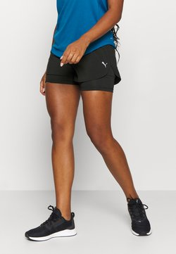 Puma - RUN FAVORITE - Pantalón corto de deporte - black